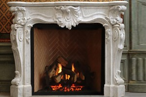 A marble fireplace mantel will be the focal point of any room in your custom built home. Marvelous Marble Design Inc. works with clients to create custom works with the highest quality.