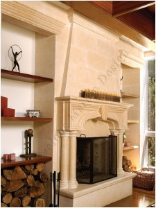 french fireplace mantel design