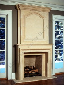 handcrafted fireplace mantel